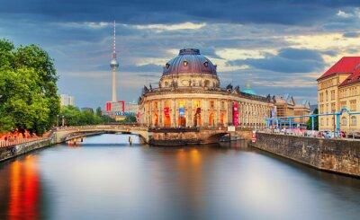 Plakat Niemcy, Berlin o zmierzchu