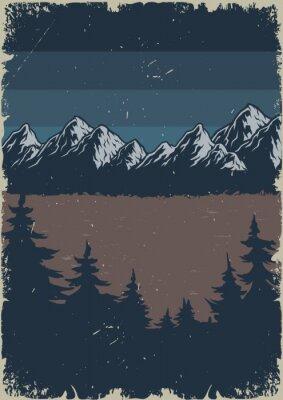 Plakat Night summer nature scenery poster