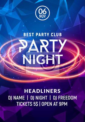 Plakat Noc taniec party muzyka noc plakat szablon. Electro styl koncert dyskoteka impreza impreza ulotki zaproszenie