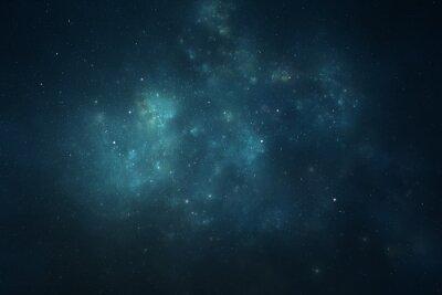 Plakat Nocne niebo - Wszechświat pełen gwiazd, mgławic i galaktyki