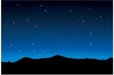 Plakat Nocny krajobraz