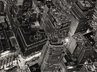 Plakat Nocny widok Nowego Jorku z Empire State Building