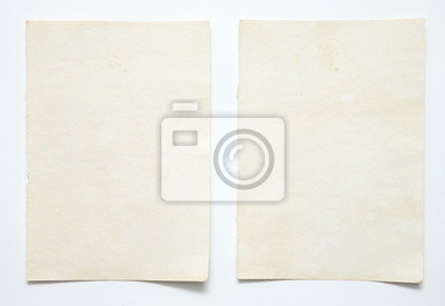 Plakat note paper on white background
