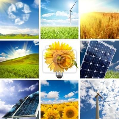 Plakat Nowa energia collage