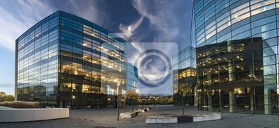Plakat Nowoczesne budynki biurowe