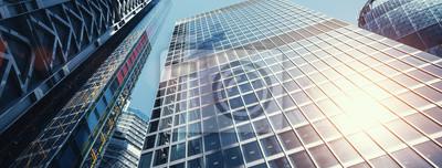 Plakat nowoczesne budynki biurowe wieżowiec w Londynie