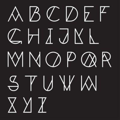 Plakat Nowoczesne geometryczne alfabet