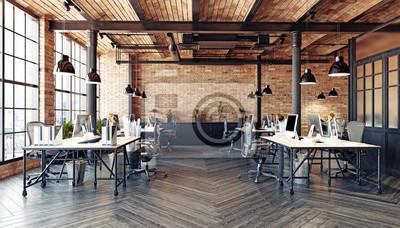 Plakat nowoczesne wnętrze biura