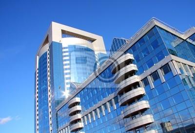 Plakat nowoczesny budynek centrum biznesu