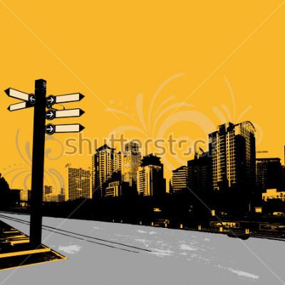 Plakat nowoczesny miejski projekt graficzny grunge
