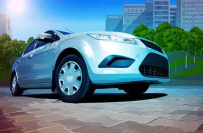 Plakat nowoczesny samochód