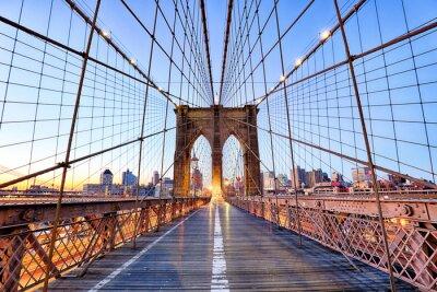 Plakat Nowy Jork, Brooklyn most na nigth, USA