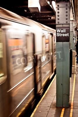 Plakat Nowy Jork metro, stacja Wall Street