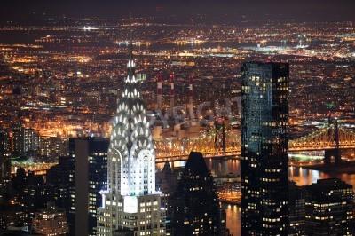 Plakat Nowy Jork, Nowy Jork, USA - 30 marca: Chrysler Building został zaprojektowany przez architekta Williama Van Alena jako Art Deco architektury i orientacyjny. 30 marca na Manhattanie w Nowym Jorku.