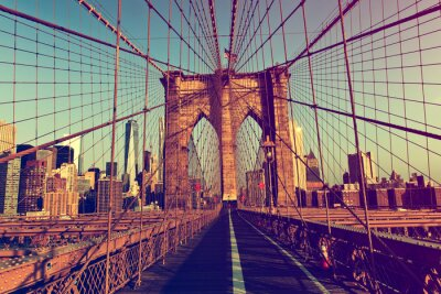 Plakat Nowy Jork z Brooklyn Bridge