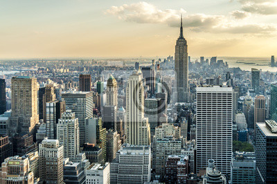 Plakat Nowy Jork z lotu ptaka Zobacz