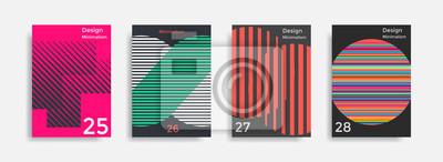 Plakat Obejmuje kolekcje szablonów o graficznych kształtach geometrycznych