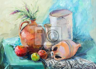 Plakat Obraz Olejny Styl Impresjonizm Tekstury Malarstwo Olejne