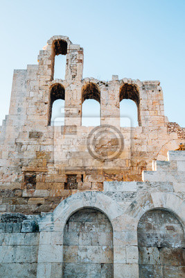 Plakat Odeon of Herodes Atticus at Acropolis in Athens, Greece