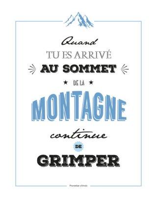Plakat Odniesienie motywacja Montagne-1