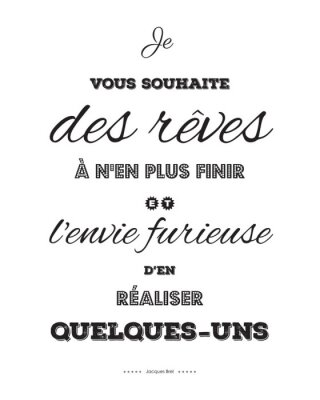 Plakat Odniesienie pozytywne Jacques Brel-1