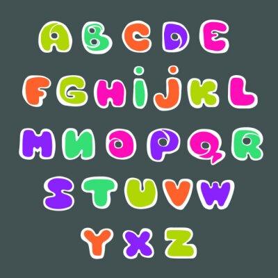 Plakat Odręczne alfabetu, liternictwo. Ręcznie rysowane małe litery.