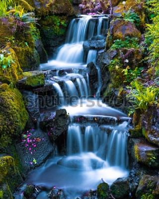 Plakat Ogród japoński Mini wodospad