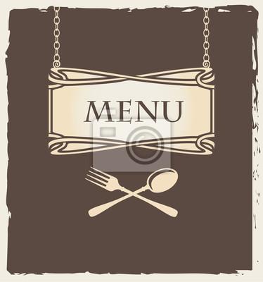 Plakat Okładka menu