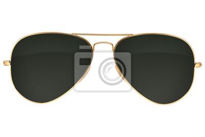 Plakat Okulary przeciwsłoneczne Aviator na białym tle