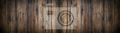 Plakat old brown aged rustic wooden texture - wood background