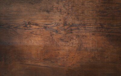 Plakat Old brown bark wood texture. Natural wooden background.or cutting board.