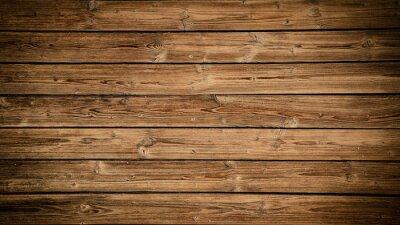 Plakat old brown rustic dark grunge wooden texture - wood background panorama long banner