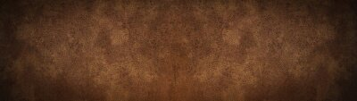 Plakat old brown rustic leather - background banner panorama long