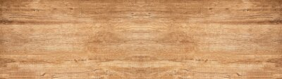 Plakat old brown rustic light bright wooden texture - wood background panorama banner long