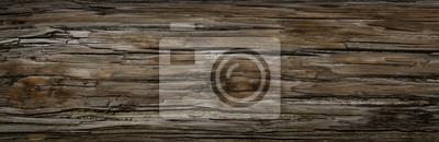 Plakat Old Dark szorstka drewniana podłoga lub powierzchnia z drzazgami i węzłami. Kwadratowy tło z podłoga lub deskami z drewno adrą. Stare drewno wieku w stodole lub starego domu.