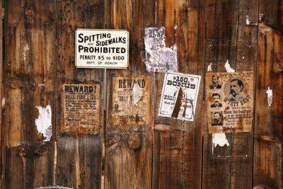 Plakat old gończy 18xx roku, Arizona, USA