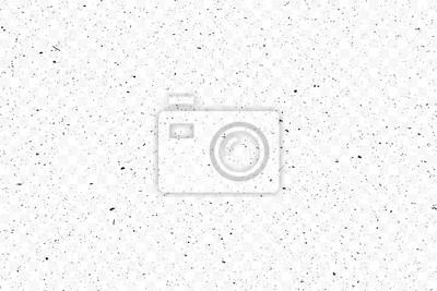 Plakat Old grunge black texture. Dark weathered overlay pattern sample on transparent background. Screen background. Vector.
