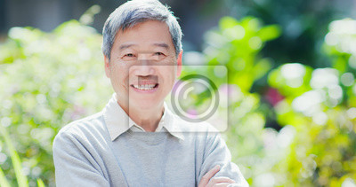Plakat old man smile to you