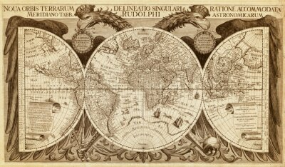 Plakat Old map of the world, printed in 1630