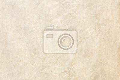 Plakat Old pale brown crumpled paper background texture