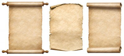 Plakat old paper vertical scrolls set isolated