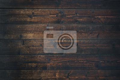 Plakat Old Vintage dark brown wooden table textured background (high details)