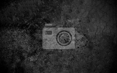 Plakat Old wall texture cement dark black gray  background abstract grey color design are light with white gradient background.