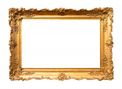 Plakat old wide ornamental baroque picture frame