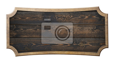 Plakat old wooden sign isolated 3d illustration