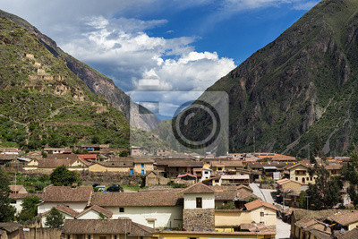 Plakat Ollantaytambo ruiny w Sacred Valley, Peru