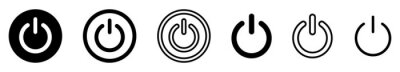 Plakat On-off icon. Set of power buttons. Vector illustration.