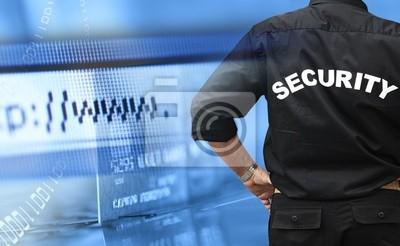 Plakat Online shopping koncepcji bezpieczeństwa
