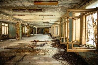 Plakat Opuszczony Korytarz w Czarnobylu