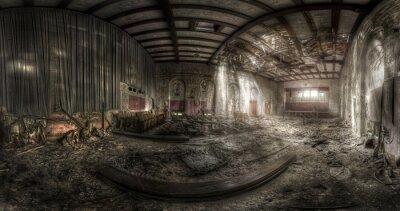 Plakat opuszczony teatr